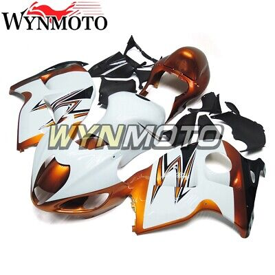 White Gold Panels for Suzuki GSXR1300 1997 2007 Fairings Hayabusa 99 07 Bodywork