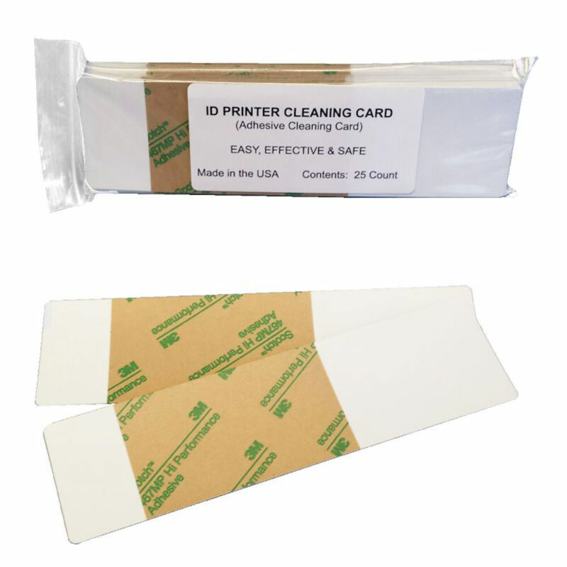 Cleaning Cards - ID Printer Adhesive, double-sided