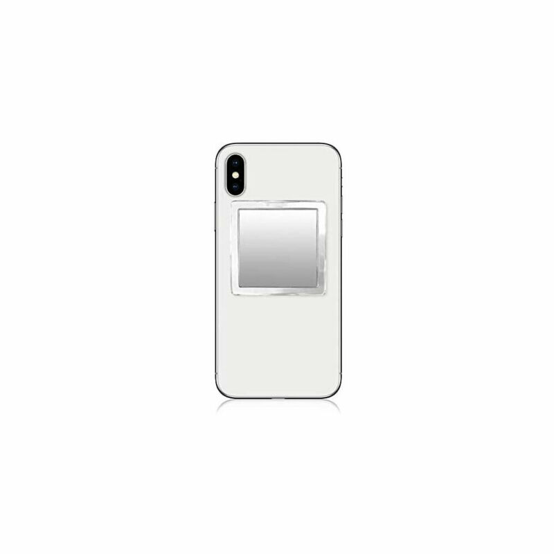 iDECOZ Clear Lucite Square Phone Mirror