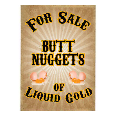 Eggs For Sale Chicken Sign Butt Nuggets Liquid Gold Hen House Coop Poultry Duck
