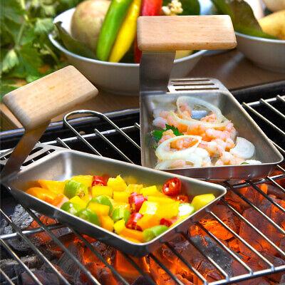 Grillpfanne Grillpfännchen für Gemüse, Fisch oder Raclette auf dem Grill 2er Set