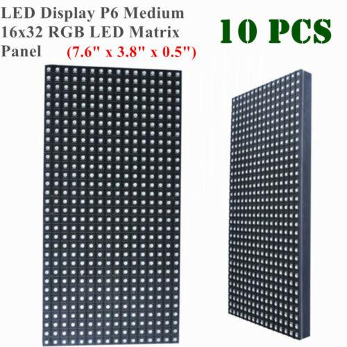 "US 10pcs LED Display P6 Medium 16x32 RGB LED Matrix Panel(7.6"" x 3.8"" x 0.5"")"