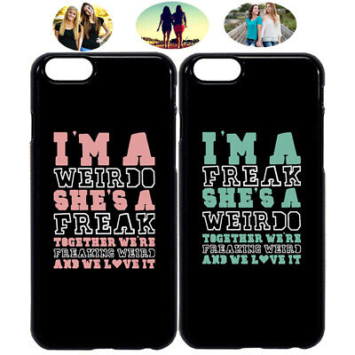 Weirdo & Freak Best Friend BFF Phone Case Cover For iPhone X XR 6 7 8 S8 S9