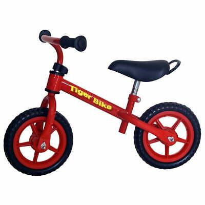 """Bicicletta Pedagogica per Bambini 12"""" Senza Pedali Kid Smile Tiger Bike Rossa"""