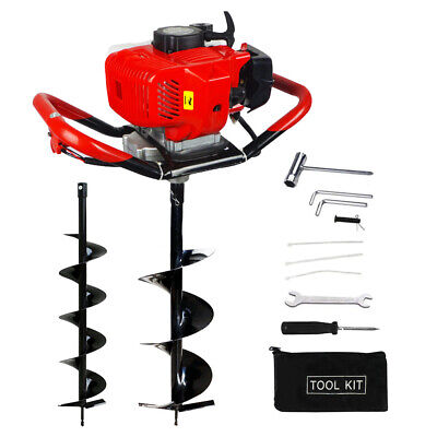 2.5hp 52cc Gas Powered Post Hole Digger With 610 Earth Auger Power Engine Us