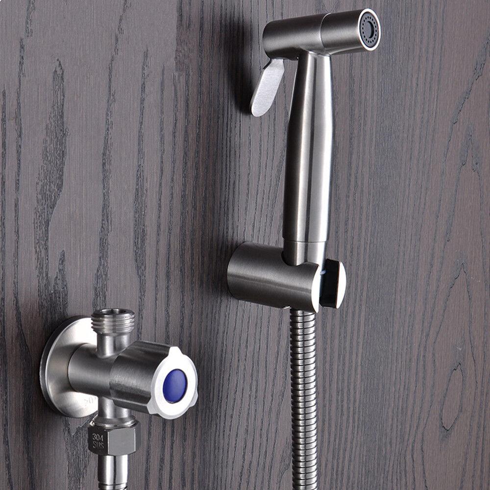 Berühmt DE-Edelstahl Handbrause Duschkopf Bidet Toilette Sprayer Anschluss FC57