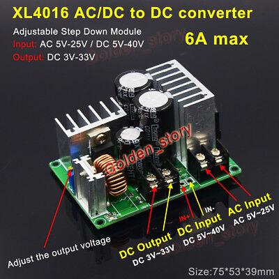 Xl4016 Acdc To Dc Buck Step Down Volt Converter 3v 5v 12v 15v 24v 6a Regulator