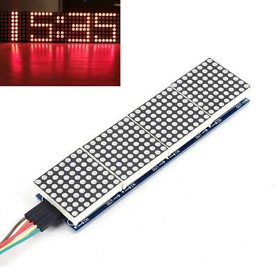 Max7219 Dot Matrix Module 8x32 Mcu Control Drive Module Led Display For Arduino