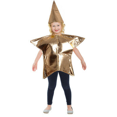 Children Gold Star Costume Kid Nativity Christmas Santa Adult Fancy Dress - Metal Kids Kostüm