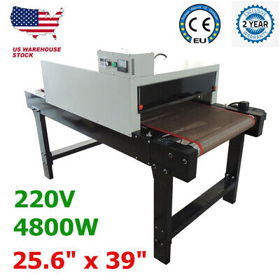 5.9ft X 25.6 Small T-shirt Silk Screen Printing Conveyor Tunnel Dryer Equipment