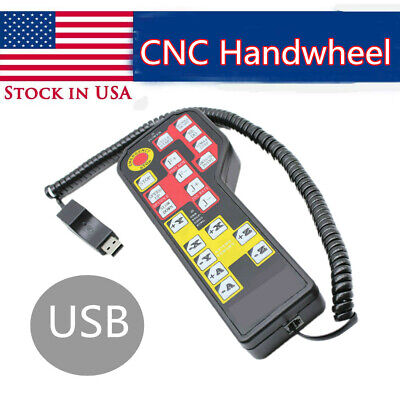 34 Axis Usb Pendant Handle Wheel Engraving Numerical Remote Control For Cnc