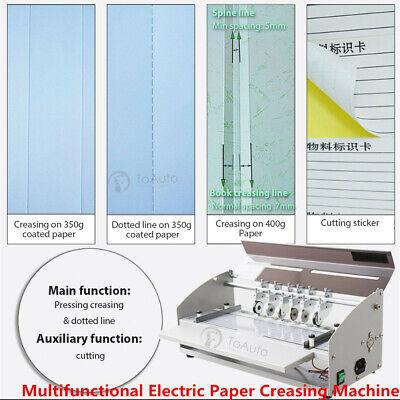 Electric 3-in-1 Scorer Perforator Paper Creasing Machine Scoring Creaser New 18