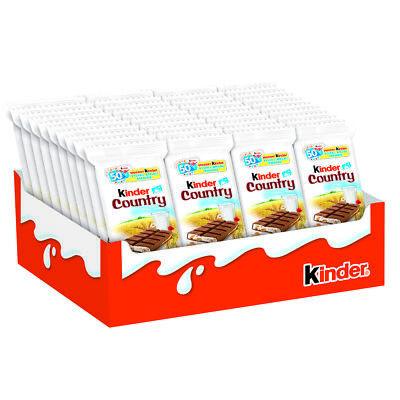 Kinder country milk chocolate bars x 40 ---Free Shipping--- Ferrero Chocolate Milk