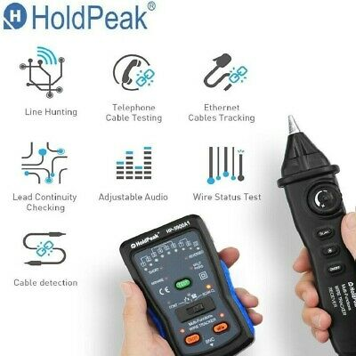 Cable Finder Tester Tone Generator Probe Kit Hp-5900a Rj11 Rj45 Bnc Wire Tracker
