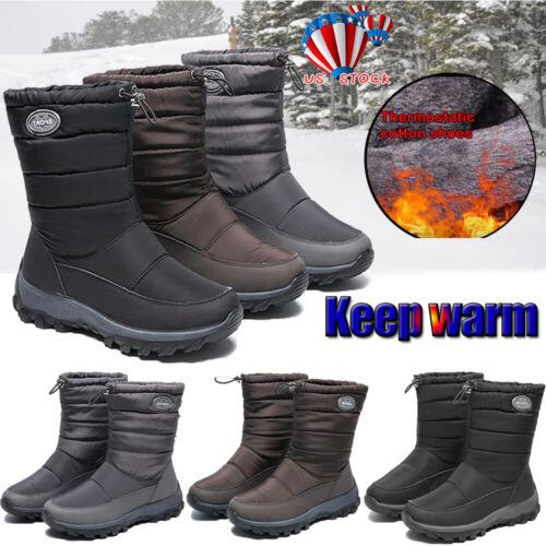 WOMEN LADIES WINTER WARM ANKLE SNOW BOOTS FUR LINED WATERPRO