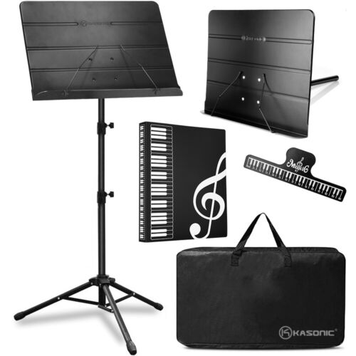 Professional Sheet Music Stand, With Portable Carrying Bag, and Music Folder