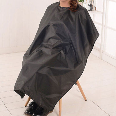HAIR CUTTING CAPE PRO SALON HAIRDRESSING HAIRDRESSER GOWN BARBER SOLID BLACK