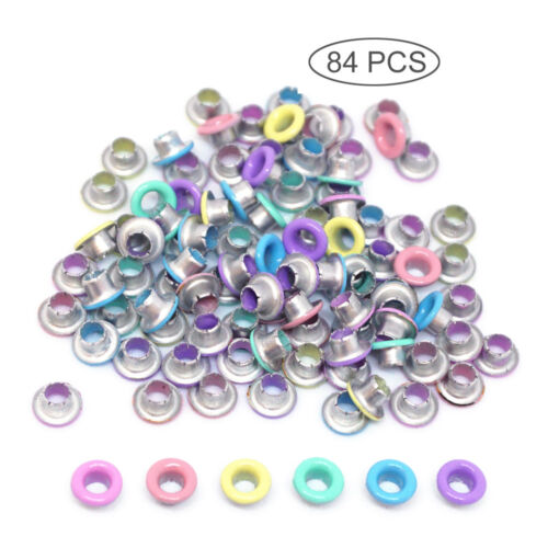 """1/8"""" Quicklet Eyelets Pastel -Scrapbooking Card Making Luggage/Cruise/Pet ID Tag"""