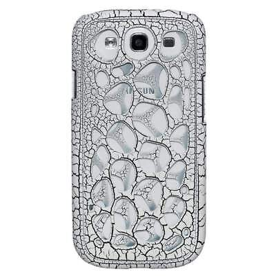I9300 Snap (AMZER Synapse Snap On Hard Shell for GALAXY S 3 I9300 - White/ Black Craquelure)
