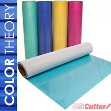 "Color Theory GLITTER Heat Transfer Vinyl 20"" x 1 or 3 Yd, Heat Press Or Iron On"