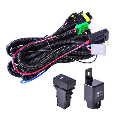 H11 Fog Light Wiring Harness Sockets Wire LED indicators Switch For Toyota Fog Light Wiring Harness