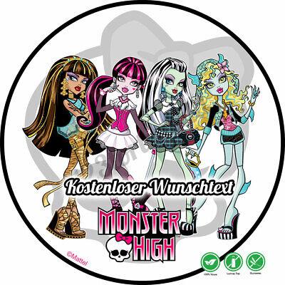 Tortenaufleger Geburtstag Tortenbild Zuckerbild Oblate Monster High - Monster High Bilder