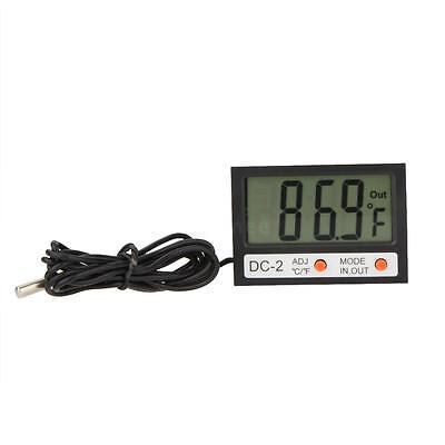 Indoor Outdoor Lcd Digital Thermometer Temperature Meter Clock W Probe Ls