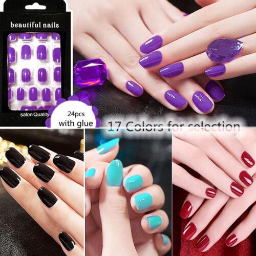 24pcs women metallic acrylic fake artificial nail tips nail diy welcome to fashion avenuessenjoy yourself solutioingenieria Gallery