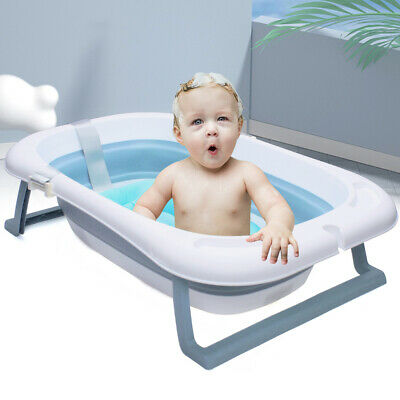 Bañera de Bebé Plegable Bañera Lavabo Taza de Champú con Alfombra de...