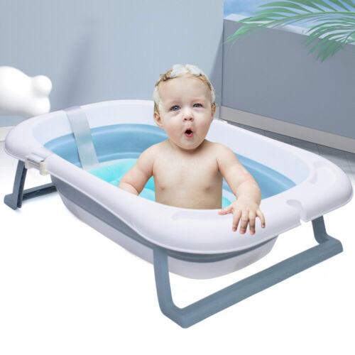 Baignoire Bébé Pliable Baignoire Avec Thermomètre Et Sécurité Tapis Antidérapant