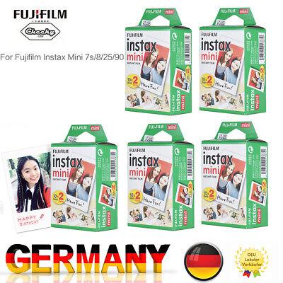 Fuji Instax 100 Bilder Mini Film Sofortbildfilm Doppelpack Fujifilm 7s/8/9/25/50