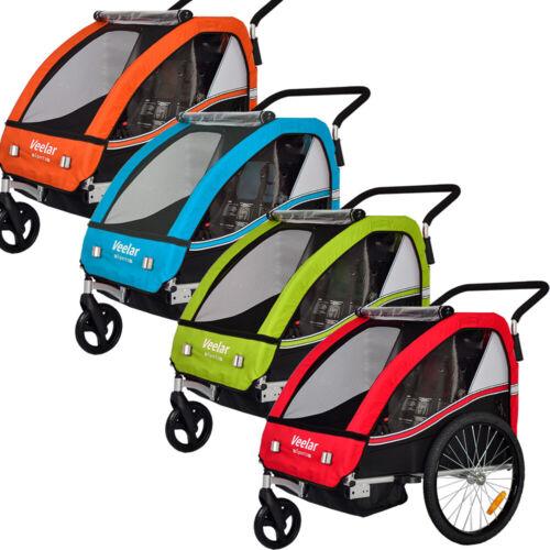Veelar Sports Child Bike Trailer & Stroller For 1 or 2 Kids Bicycle Trailer