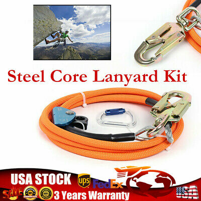 12 X 10 Steel Core Lanyard Kit Flipline Swivel Snap High Strength Nylon Us New
