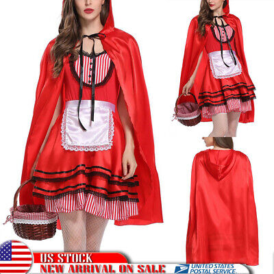 Women's Chrismas Party Fancy Dress Little Red Riding Hood Cosplay Costume