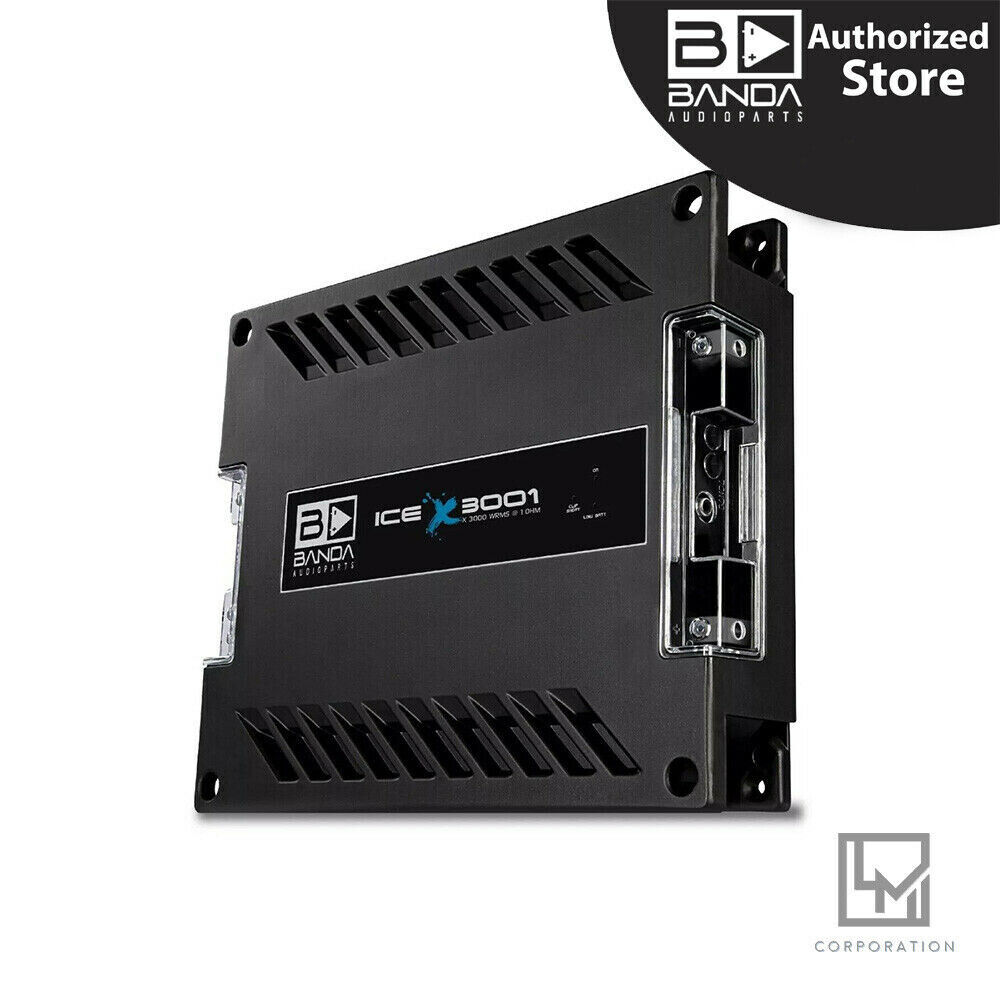 Banda Audioparts Ice X 3001 Mono Channel 3000wrms   1ohm