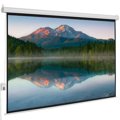 """100"""" 4:3 80"""" x 60"""" Viewing Area Motorized Projector Screen with Remote Control"""