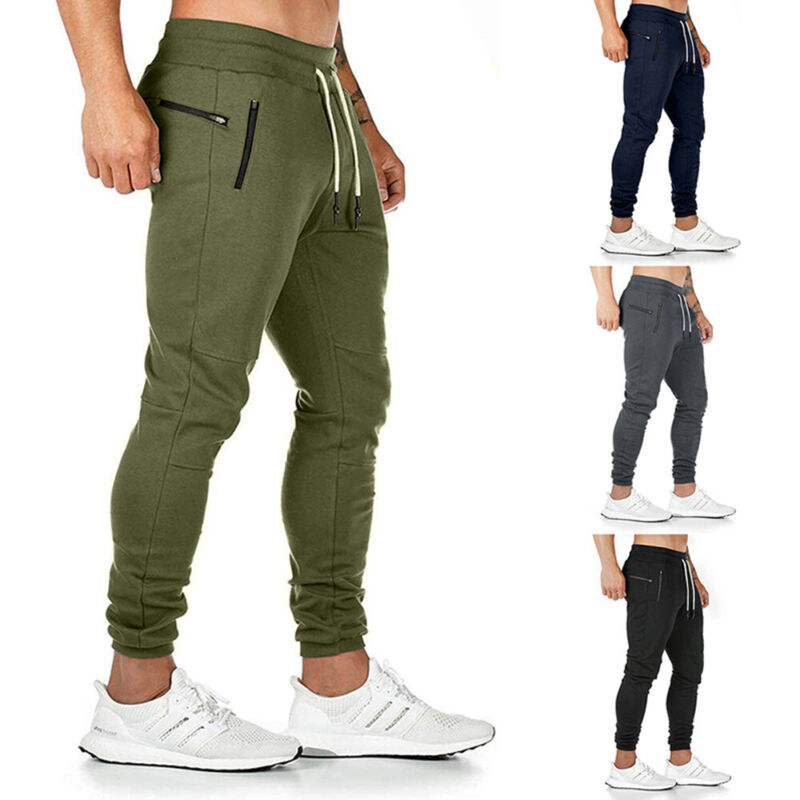 ❤️men Slim Fit Tracksuit Bottoms Skinny Casual Long Joggers Pants Sweat Trousers