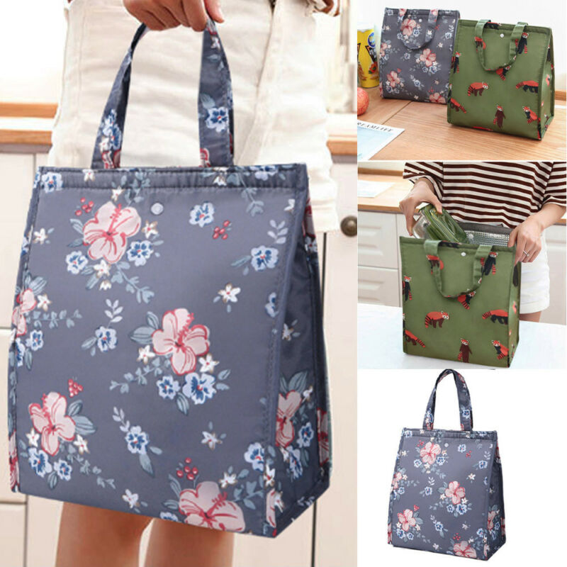 Cute Women Ladies Girls Bag  Portable Insulated Lunch Bag Box Picnic Tote Cooler