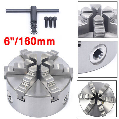 6jaw 160mm Lathe Chuck 6 Self-centering Step Jaws Metal Lathe Tool Accessory