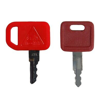 2 Key Set Heavy Equipment Ignition Keys Fits John Deere Excavator Loader Dozer