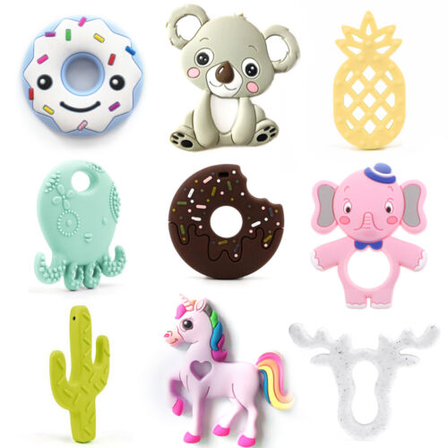 Donut Pineapple Cactus Teether Silicone Teething Toys DIY Baby Sensory Jewelry