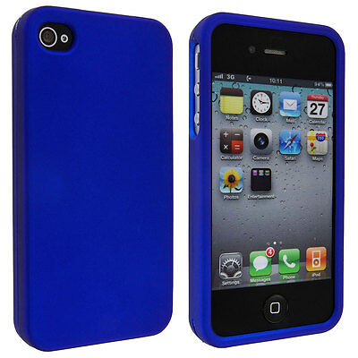Blue Snap-On Hard Case Cover for iPhone 4 / 4S Cover Blue Snap