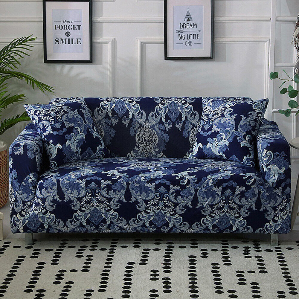 Floral Elastic 1/2/3/4 Seater Slipcover Stretch Sofa Cover C