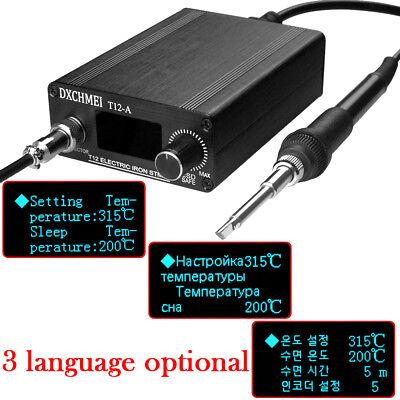 110V 220V OLED Digital Soldering Iron Station & T12 Handle Finished Controller