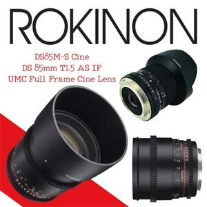 New  Rokinon DS85M-S Cine DS 85mm T1.5 AS IF UMC Full Frame Cine Lens Condition: New  for Sony A 85-85mm Fixed Lens f...