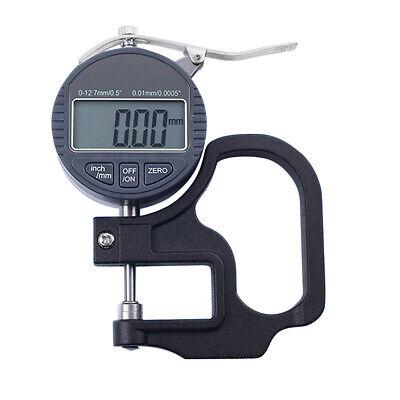 12.7mm Digital Micrometer Electronic Thickness Gauge Depth Meter Lcd Measurement