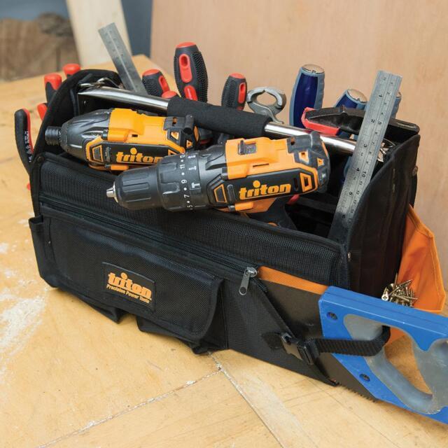 Triton Tool Bag Open Tote Hard Base 400 X 190 280mm