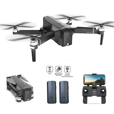 Brushless GPS drone with 2K FHD camera 5G wifi FPV RC quadcopter 2 battery DE22
