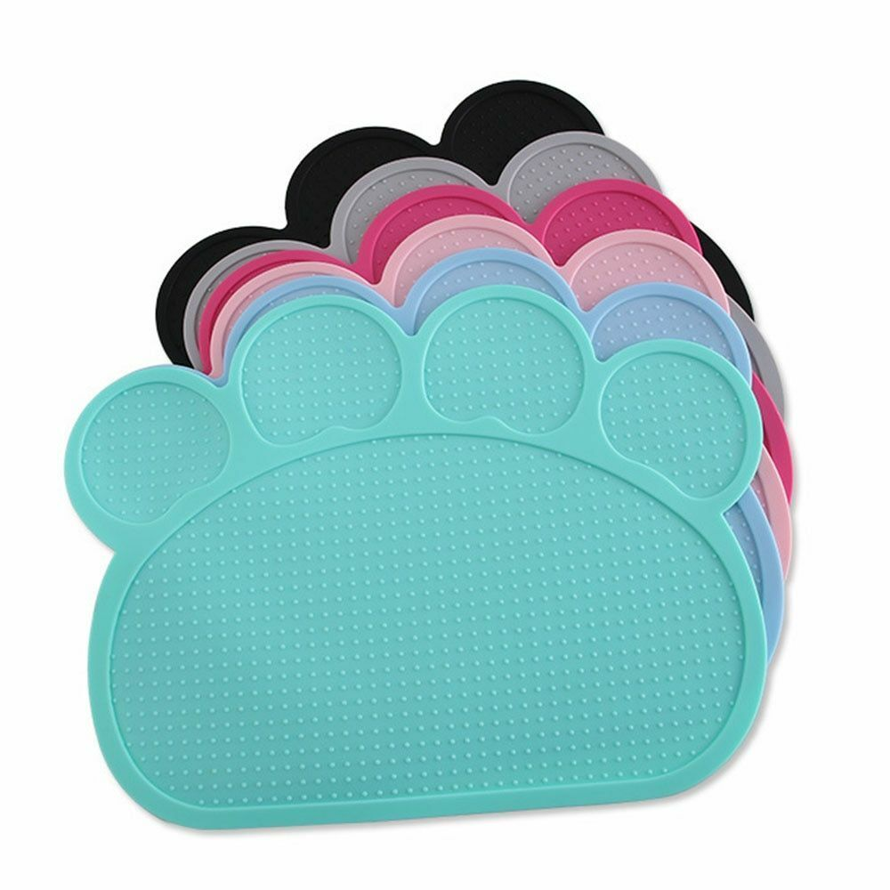 Waterproof Pet Mat for Dog Cat Silicone Pet Food Pad Pet Bowl Drinking Mat Dog