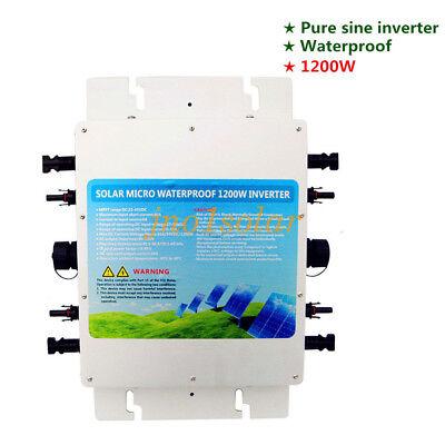 Pure Sine 1200W waterproof grid tie inverter MPPT function 230V quick connector